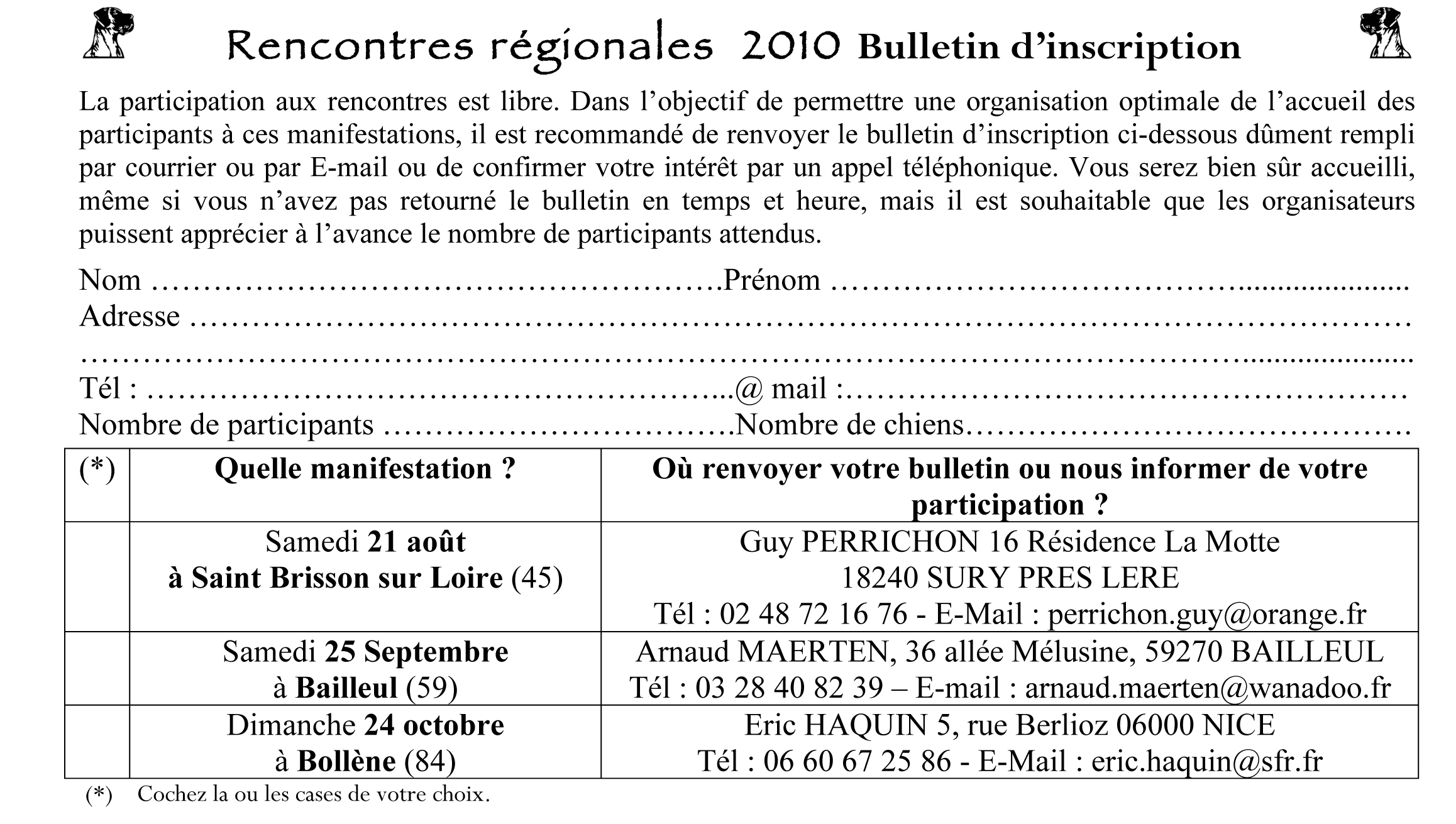 Rencontre de bulletin